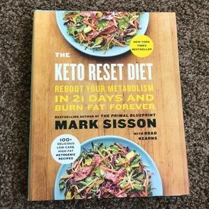 The Keto Reset Diet hard cover book